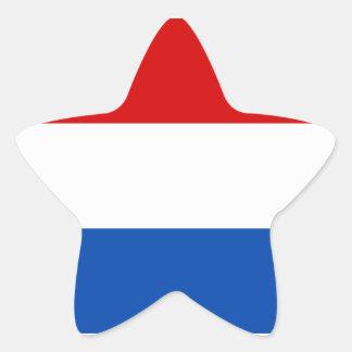 The Dutch Flag Star Sticker