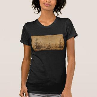 The Dutch Fleet Under Sail by Willem van de Velde T-Shirt