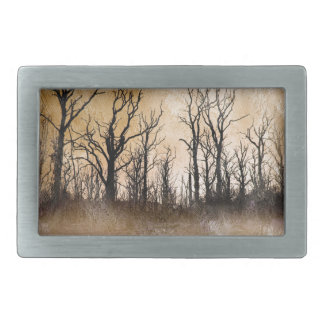 The Dying Trees Rectangular Belt Buckles