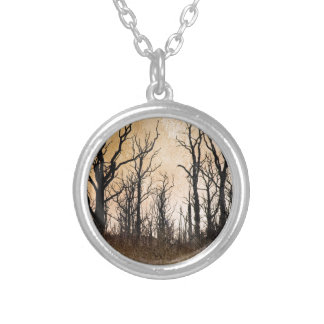 The Dying Trees Silver Plated Necklace