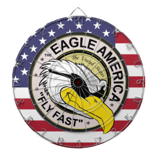 "The Eagle America ""Fly Fast"" Pilot Dart Board"