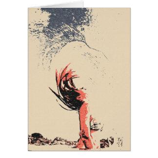 The eagle spirit, sexy girl in bikini abstract art card
