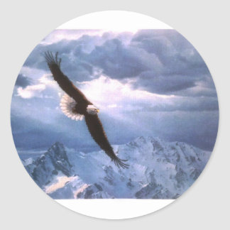 The Eagle Weathers the Storm Classic Round Sticker