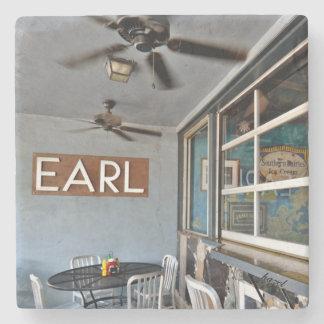 The Earl, East Atlanta, EAV, Marble Stone Coaster. Stone Coaster
