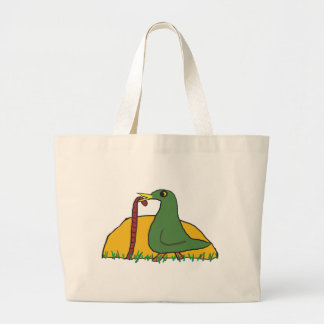 The Early Bird Catches the Worm 2 Large Tote Bag
