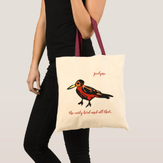 the early bird tote bag