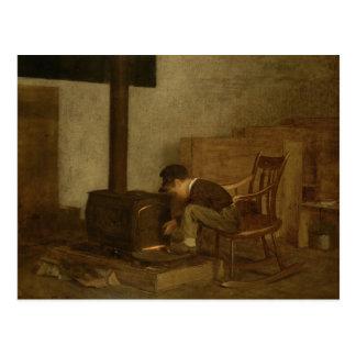 The Early Scholar - Eastman Johnson Postcard