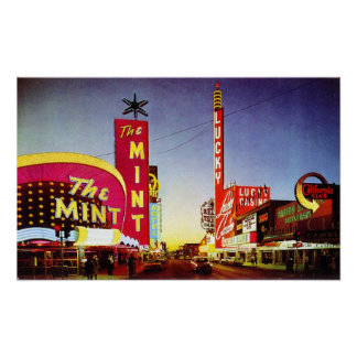The early sixties: Las Vegas Poster