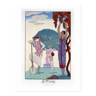 The Earth, 1925 (colour litho) Postcard