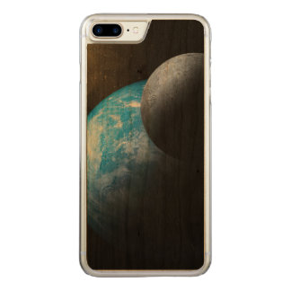 The Earth and Moon Carved iPhone 7 Plus Case