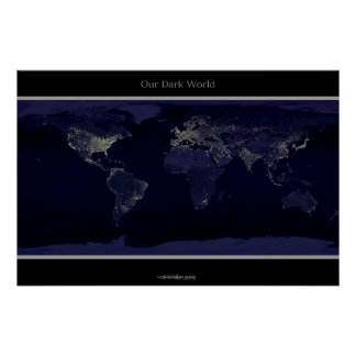 The Earth at Night Posters