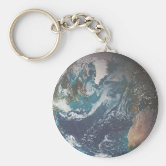 The Earth Basic Round Button Keychain