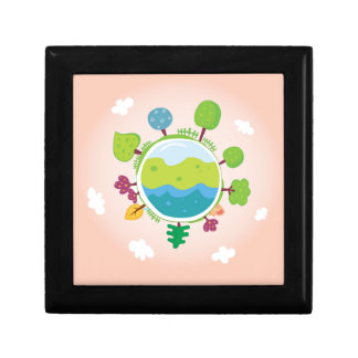 The earth day vintage Illustration edition Gift Boxes