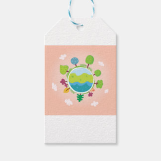 The earth day vintage Illustration edition Gift Tags