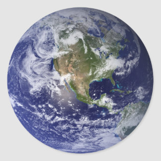 The Earth From Space Classic Round Sticker