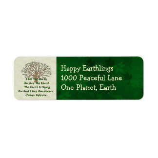 The Earth Is Dying Return Address Label
