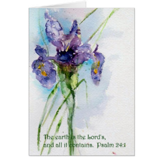 The earth is the Lord's   Psalm 24:1 Card