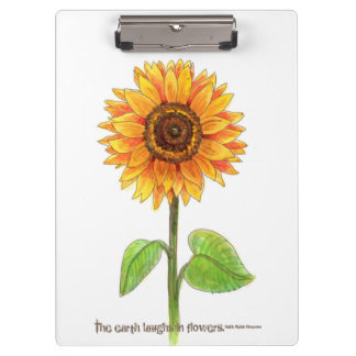 """""""The earth laughs in flowers"""" Clipboard"""