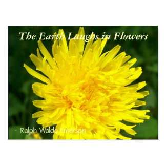 THE EARTH LAUGHS IN FLOWERS - 'DENTS DE LION' POSTCARD