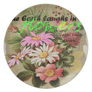The Earth Laughs in Flowers Dinner Plate