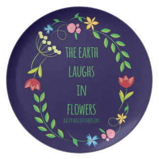 The Earth Laughs in Flowers Dinner Plates