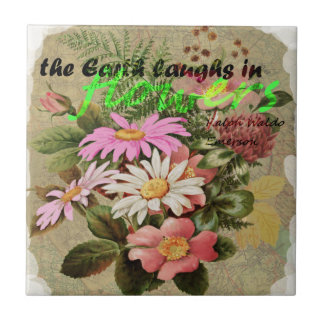 The Earth Laughs in Flowers Tile