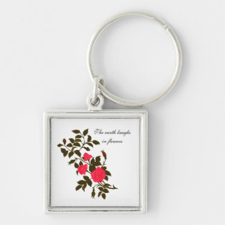 The earth laughs in flowers, with Vintage Roses Keychain