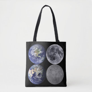 The Earth & Moon From Space Tote Bag
