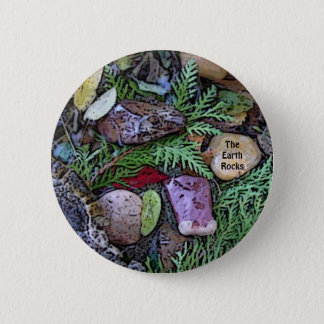 The Earth Rocks Button for Earth Day Celebration