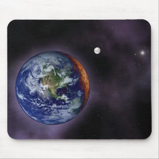 The Earth shown at the outer edges Mouse Pad