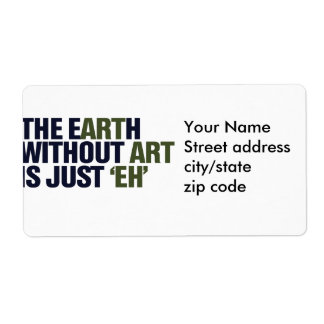 The Earth without ART Shipping Label