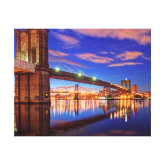 The East River, Brooklyn Bridge, Manhattan Canvas Print