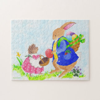The Easter Bunny and Heddy Hedgehog Jigsaw Puzzle
