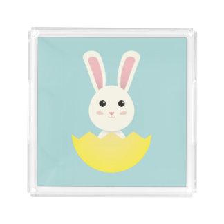 The Easter Bunny I Acrylic Tray
