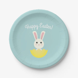 The Easter Bunny I Paper Plate