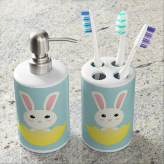 The Easter Bunny I Soap Dispenser And Toothbrush Holder