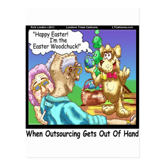 The Easter Bunny Is A Woodchuck Funny Postcard