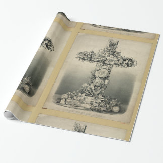The Easter Cross by Ives 1869 Wrapping Paper