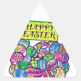 The Easter nest egg. Triangle Sticker