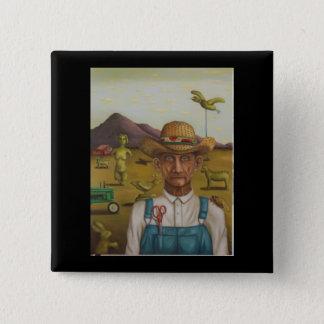 The Eccentric Farmer 2 Inch Square Button