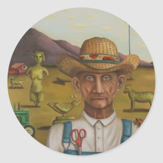The Eccentric Farmer Classic Round Sticker