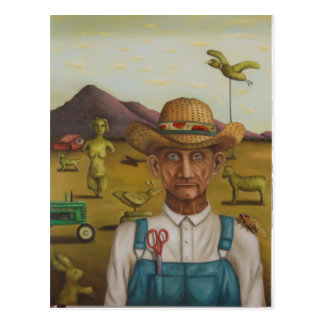 The Eccentric Farmer Postcard