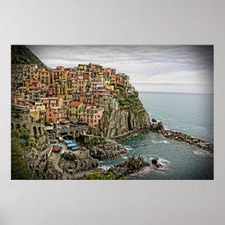 The Edge of Italy - Manarola - Cinque Terre Poster