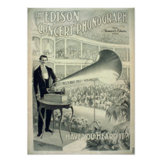 The Edison concert phonograph. Poster