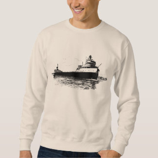 The Edmund Fitzgerald on the St. Clair River Sweatshirt