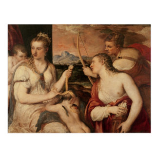 The Education of Cupid, c.1565 Postcard