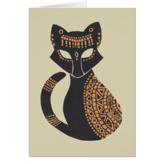 The Egyptian Cat Card