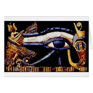 The Egyptian Eye of Horus Card