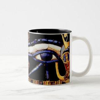 The Egyptian Eye of Horus Two-Tone Coffee Mug
