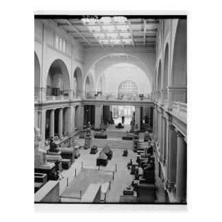 The Egyptian Museum (Interior) circa 1934 Postcard